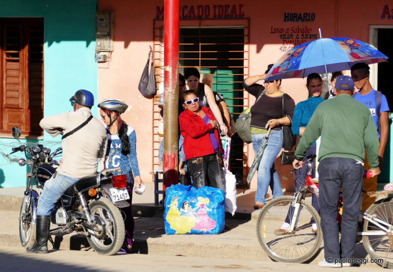 People waiting to go home after a day at work, Pinar del Rio, Cuba