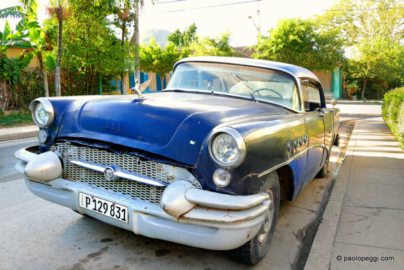 Alone in the street, at Pinar del Rio,Cuba...Maybe 1955 Buick Special 4-Door Sedan?