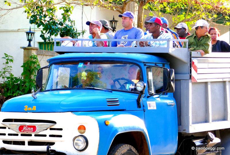 Camiones in Cuba with the passengers, Pinar del Rio, Cuba