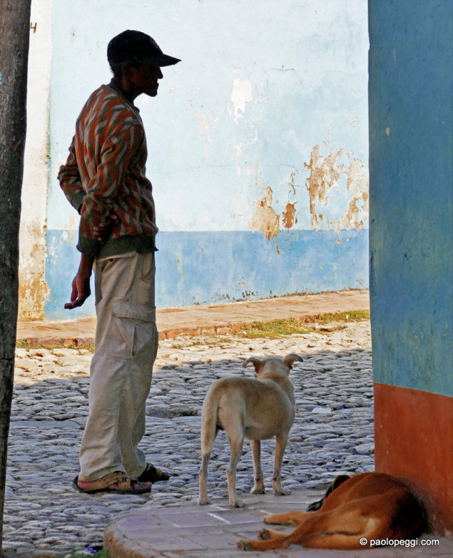 The Man and The Dog. Trinidad, Cuba
