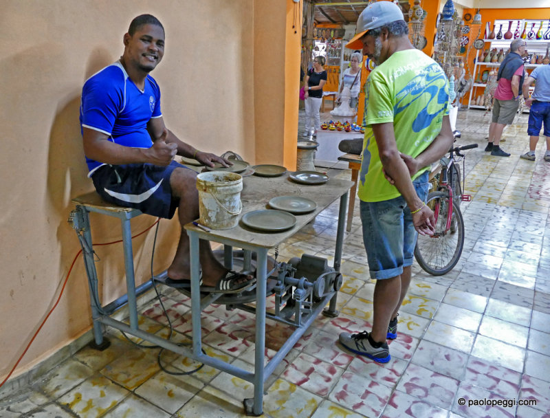 Hands made pottery, Trinidad,Cuba