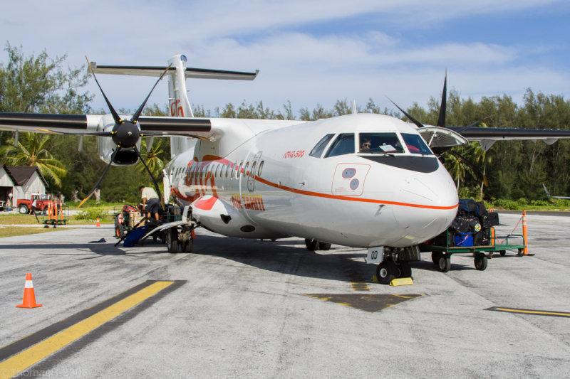 0340-Papeete to BoraBora in an  ATR42