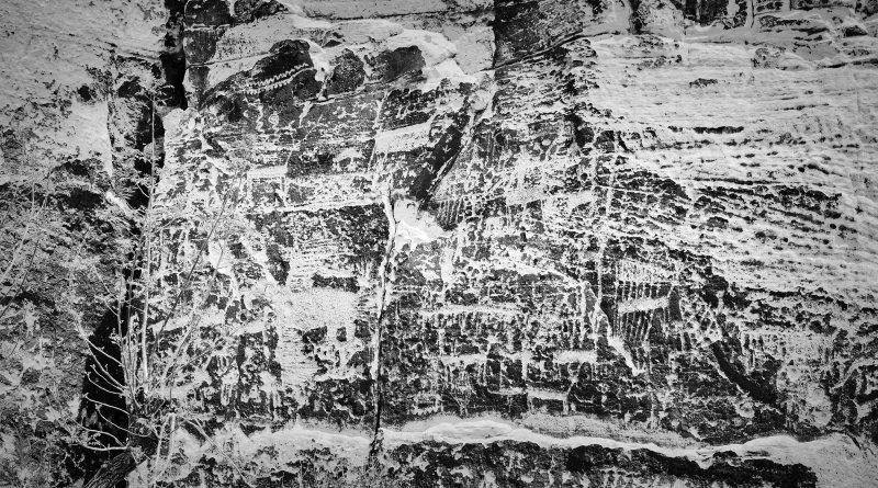 Petroglyph panel at Rock Art Ranch, Sedona AZ