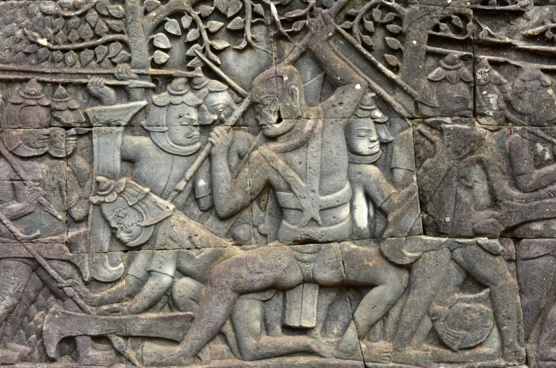 Bas-relief at Bayon