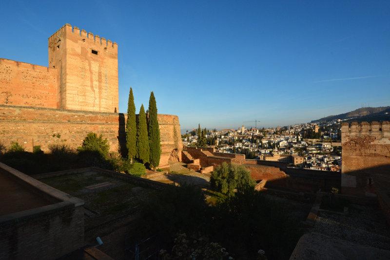 The Alcázar and view of the Albayzín neighborhood