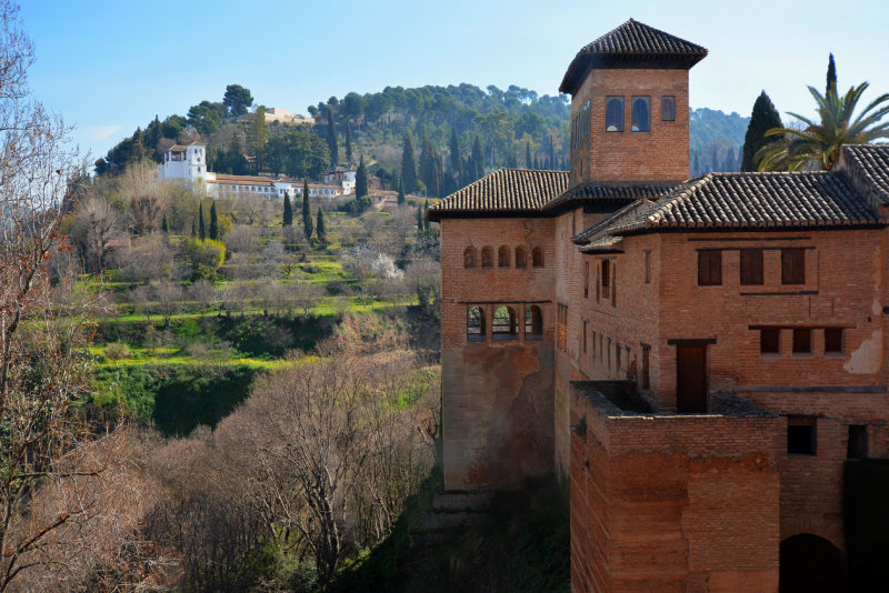 Alhambra and Generalife at the background