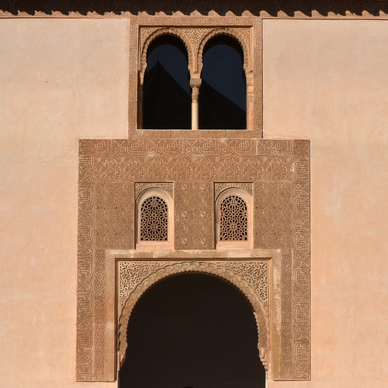 Windows - Courtyard of the Myrtles
