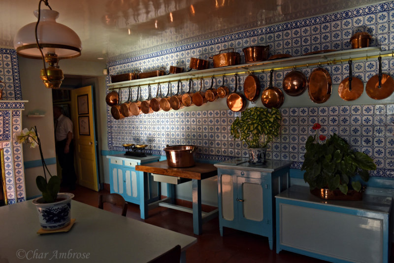 A view of Monets Kitchen