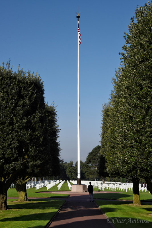 Flag Pole at the American Cemetery Normandy