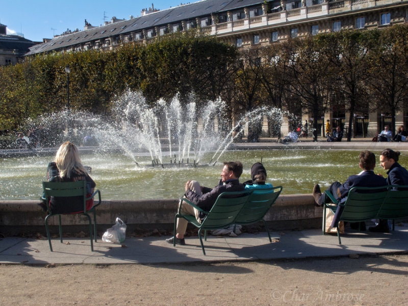 Fountain in the Jardin du Palais Royal