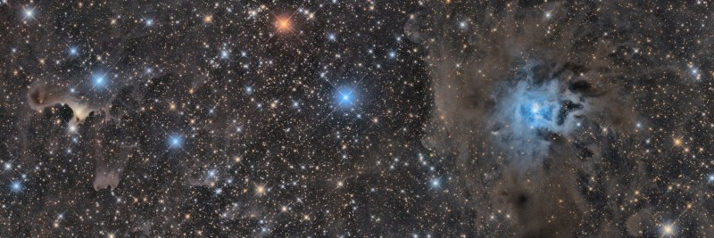 NGC7023 and vdB 141 - Iris Nebula and Ghost Nebula in Cepheus