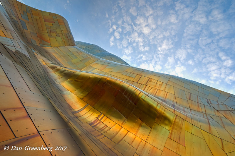 Waves of Golden Glowing Metal