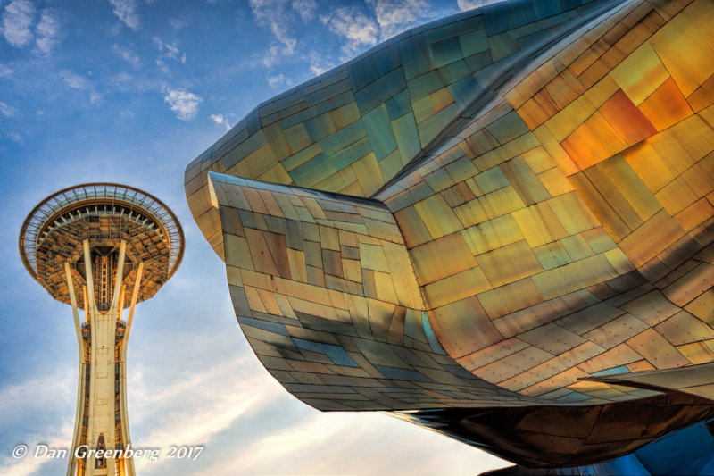 Space Age Structures Juxtaposed