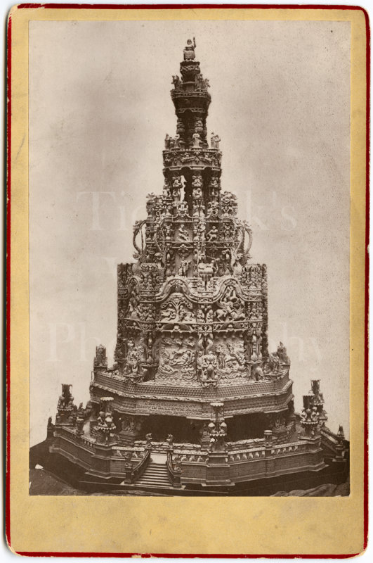 Fountain of Helicon Cabinet Card Photo Paris Exhibition Exposition 1878