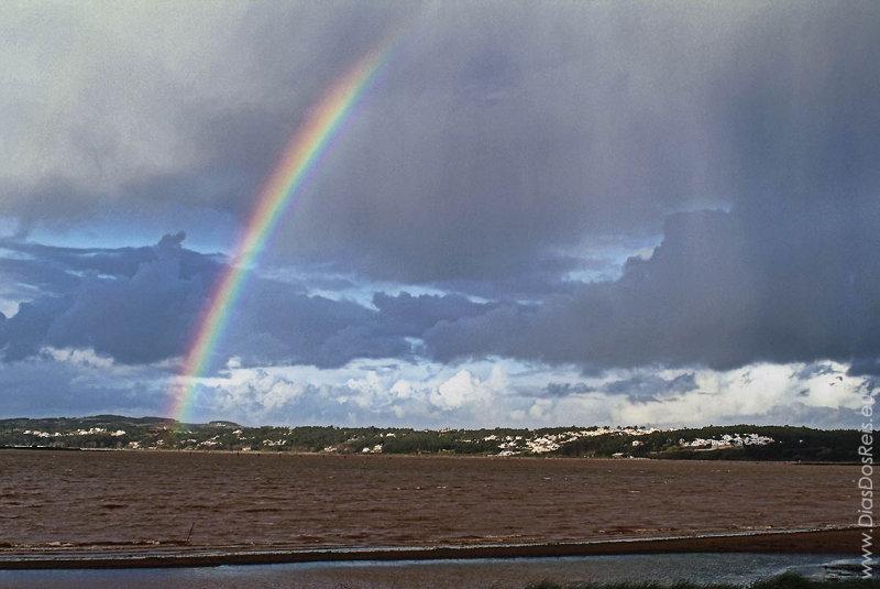 A Lagoa de Óbidos <br>em 8 de janeiro de 2003