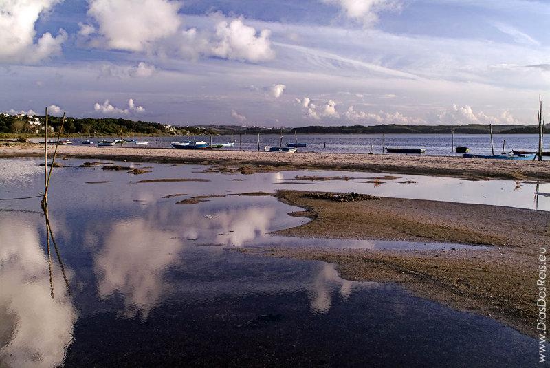 A Lagoa de Óbidos <br>em 20 de outubro de 2003
