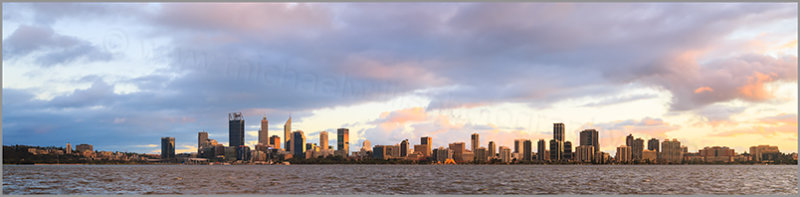 Perth and the Swan River at Sunrise, 5th July 2017