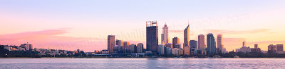 Perth and the Swan River at Sunrise, 8th August 2012