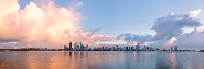 Perth and the Swan River at Sunrise, 31st July 2013