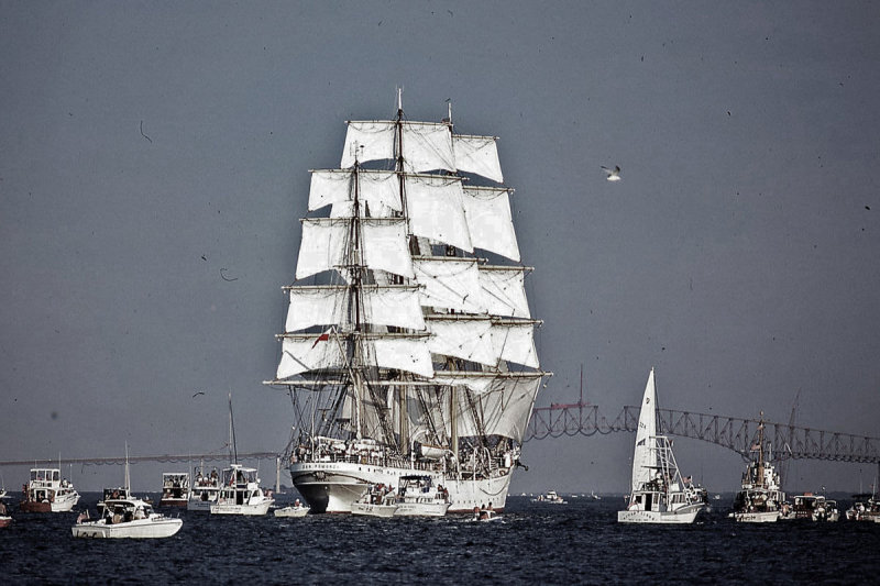 Tall Ship from Fort McHenry - 1976
