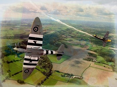 Spitfire dog fight.
