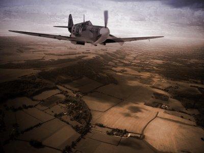 Spitfire over West Sussex.