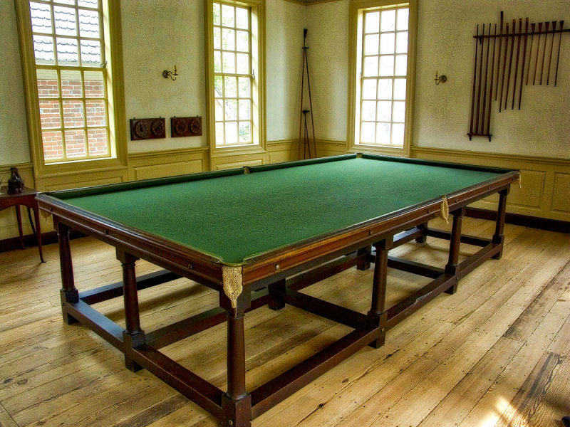 oversized pool table