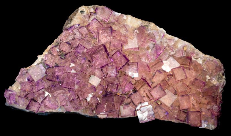 Colour-zoned fluorites to 5 mm, Seata Mine, Aysgarth, Wensleydale, N Yorkshire.