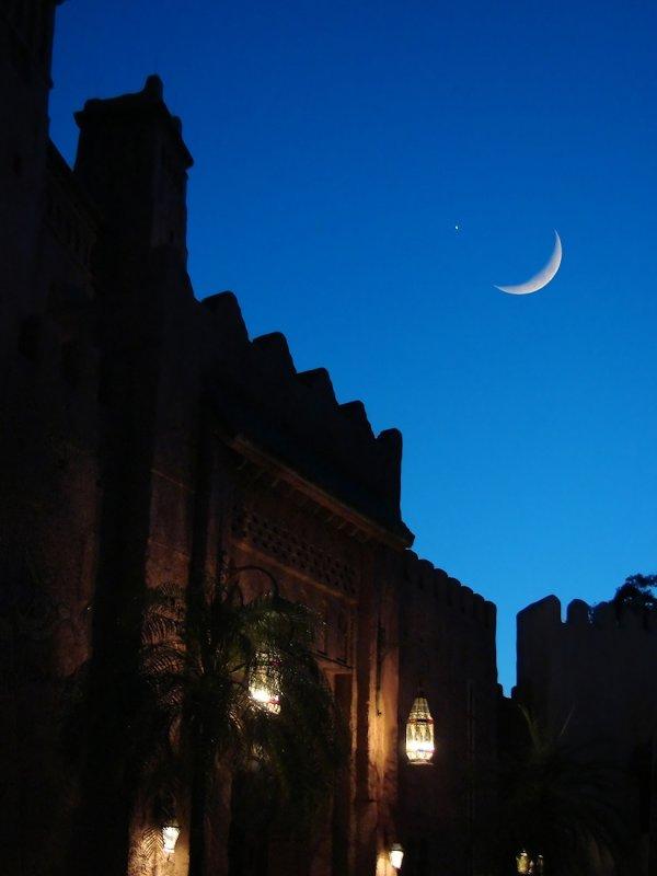 Islamic symbolic sky in Morocco