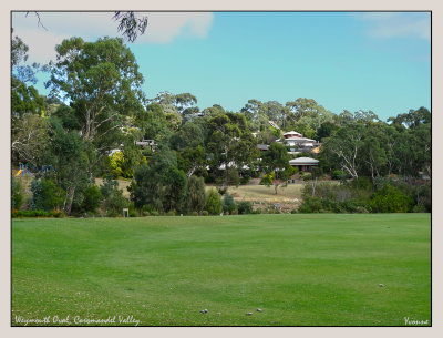 Sports oval in the valley