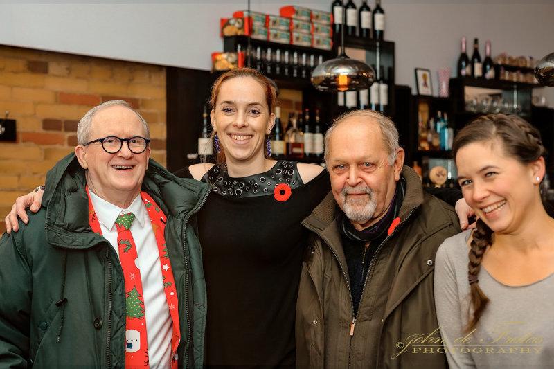 2017 - Fraser, Monique, Ken & Jacquie at Real Mo-Mos - Toronto, Ontario - Canada