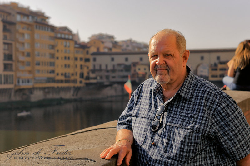2017 - Ken at Vecchio Bridge in Florence, Tuscany - Italy
