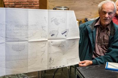 Han har besøkt Barcelona og (selvsagt!) pådratt seg et tegningssett på det lokale sjøfartsmuseet der