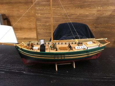 Terje Westergaards modell av Gjøa, skala 1:50. Scratchbygd etter Knut Gransæthers tegninger