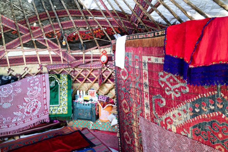 Inside Kyrgiz Yurt