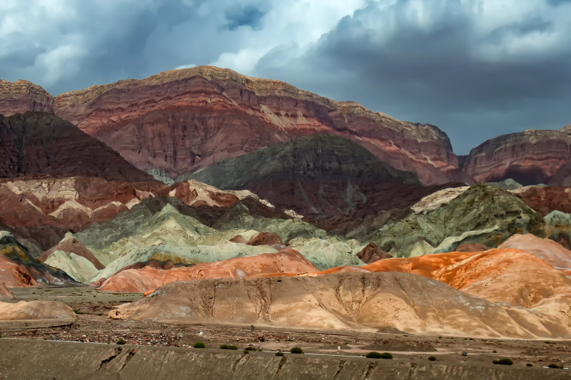 Colorful Hills Near Aksu