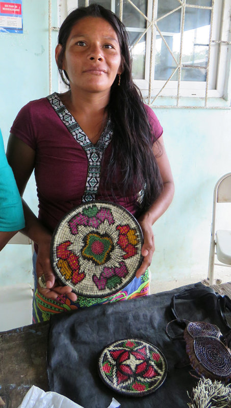 Embera Woman with a basket
