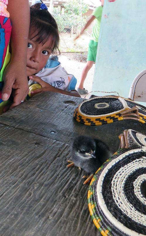 Embera Child peeking at me