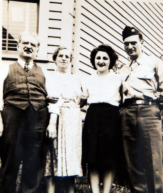 My Aunt Lena and Uncle Pat with My grandfather and Grandmother