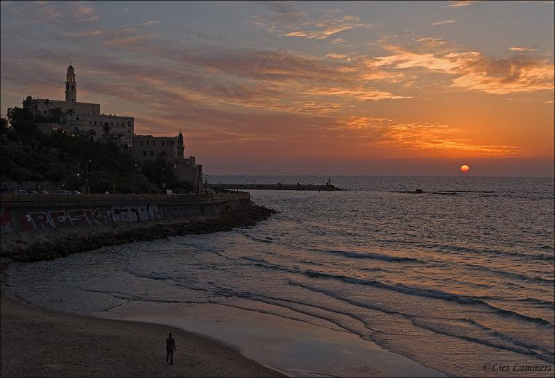 Sunset Old Jaffa Tel Aviv