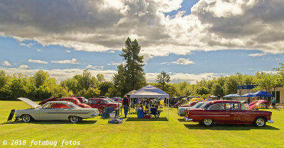 Overall View of Car Show