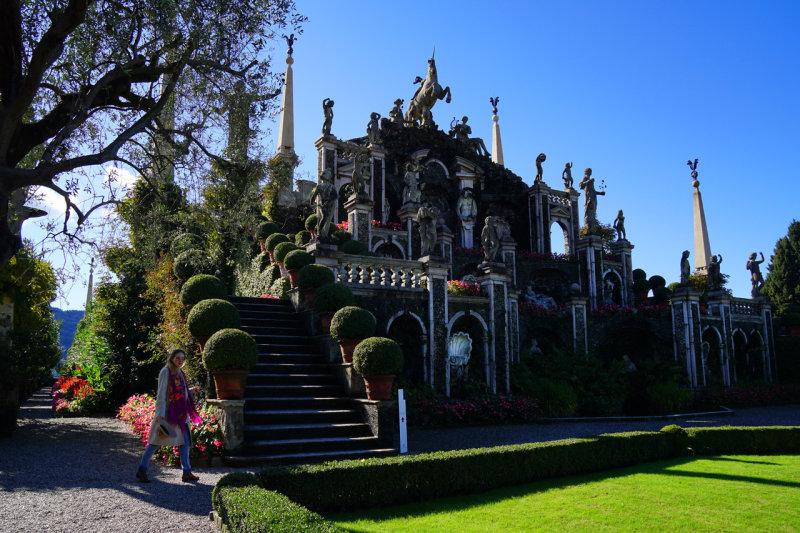 In Gardens of Borromeo Palace