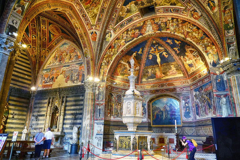In Baptistry of Siena Cathedral