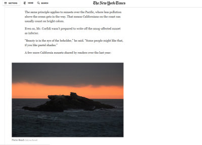 I'm in the New York Times again...