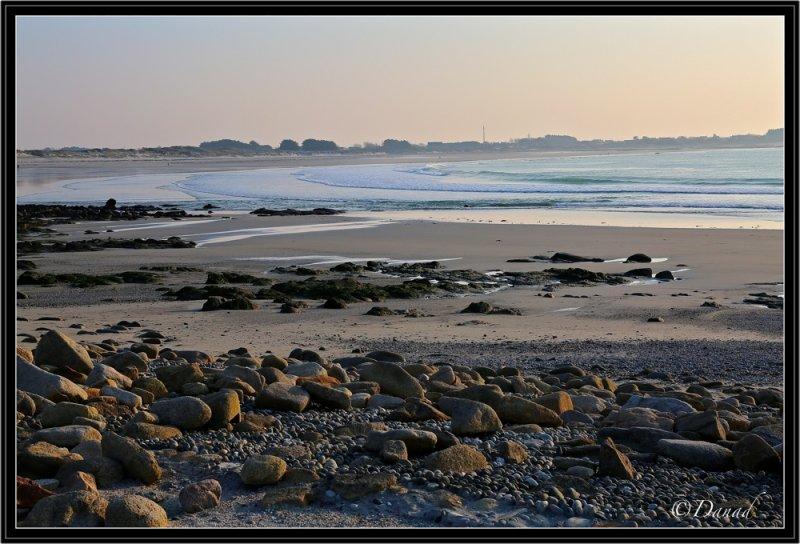 Pors Carn Beach in Winter.