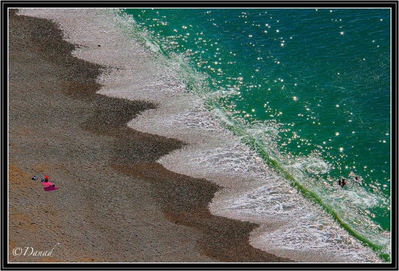 Seashore in Normandy.