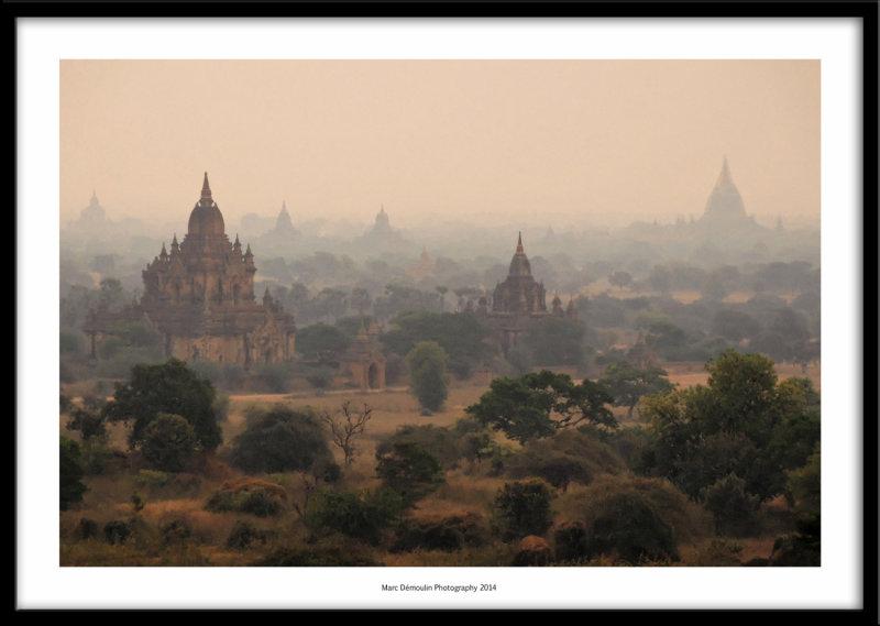 Pagodas in the mist, Bagan, Myanmar 2014