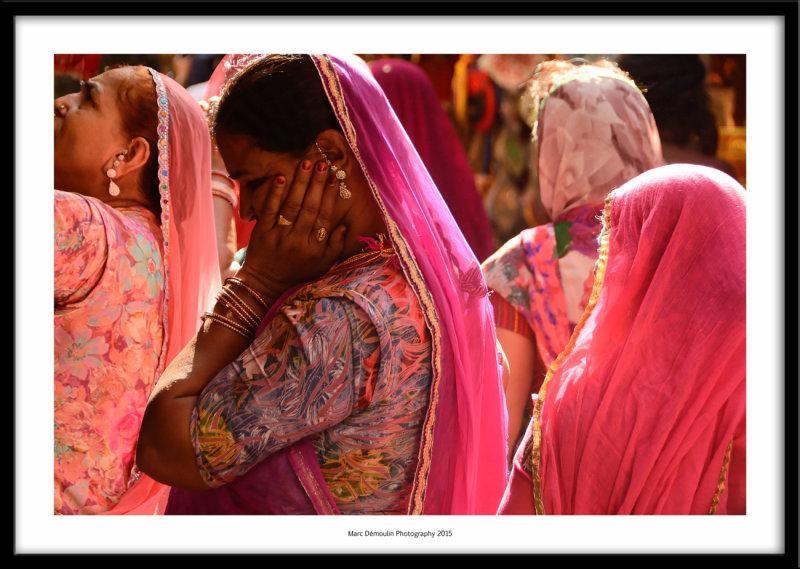 Ladies in pink, Haridwar, India 2015