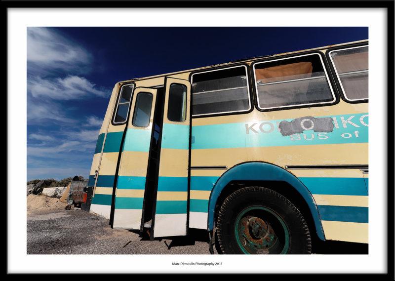 Old bus, Oia, Greece 2013