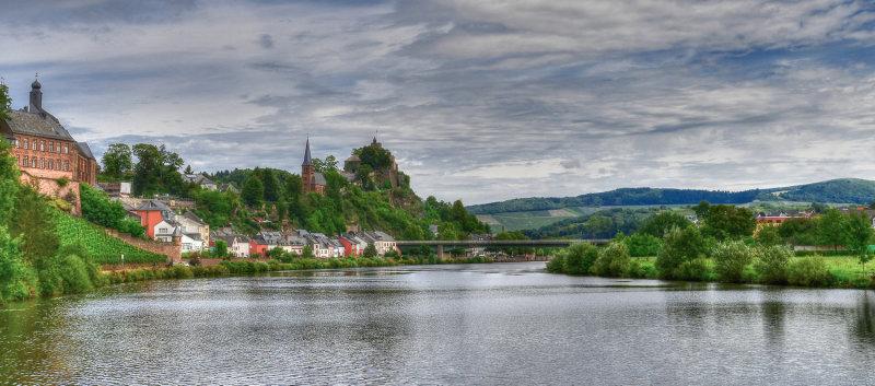 Saarburg and Saar River